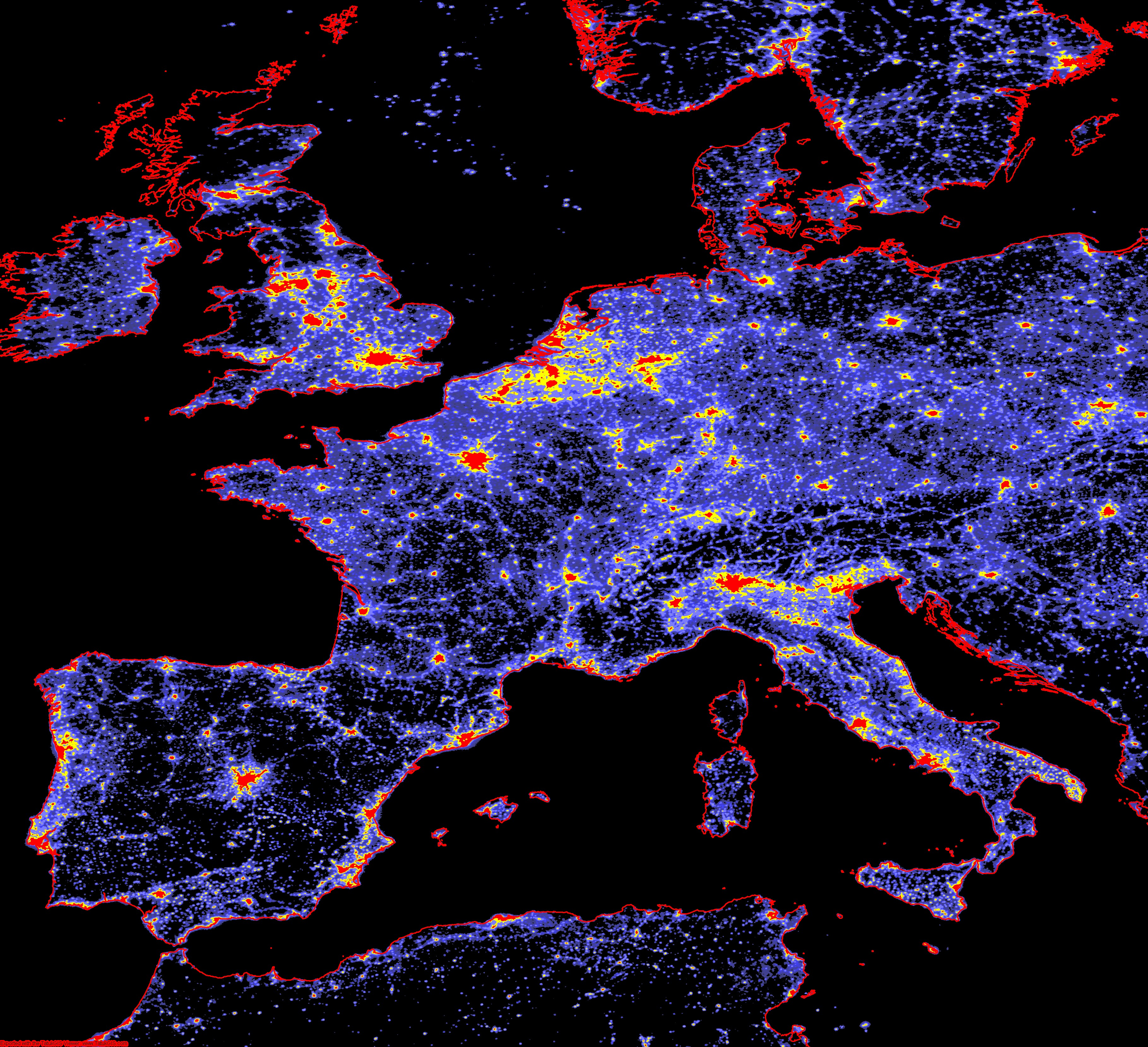 Dark Sky Initiative Gegen Lichtverschmutzung - Dark sky map