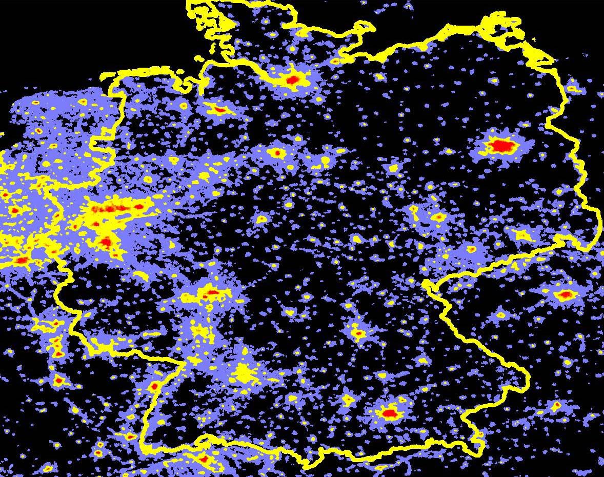 lichtverschmutzung deutschland karte Dark Sky   Initiative gegen Lichtverschmutzung